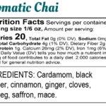 Label: Bina Mehta Aromatic Chai Final