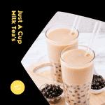 Beige and Purple Milk Tea Beverage CPG Feed Ad