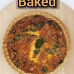 3722145004 Quiche Spinach COOKED TOP