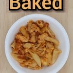 3722145007 Baked Ziti COOKED SERVED TOP